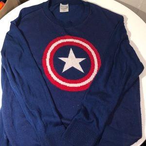 Marvel captain America knit sweater